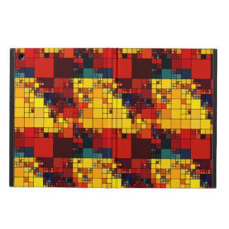 Art abstract vibrant rainbow geometric pattern case for iPad air