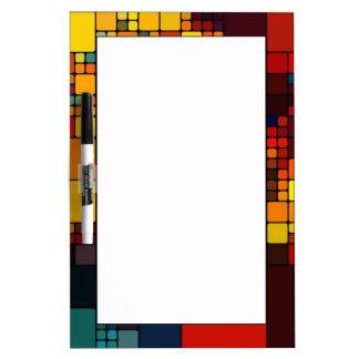 Art abstract vibrant rainbow geometric pattern Dry-Erase whiteboard