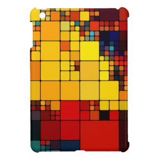 Art abstract vibrant rainbow geometric pattern iPad mini case