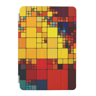 Art abstract vibrant rainbow geometric pattern iPad mini cover