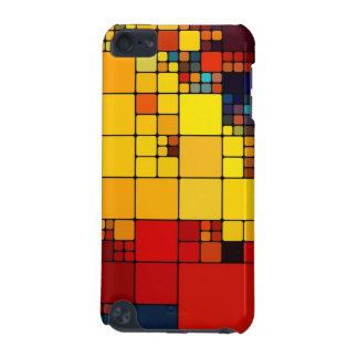 Art abstract vibrant rainbow geometric pattern iPod touch 5G cover