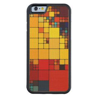 Art abstract vibrant rainbow geometric pattern maple iPhone 6 bumper