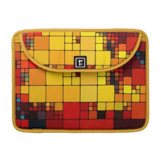 Art abstract vibrant rainbow geometric pattern sleeve for MacBooks