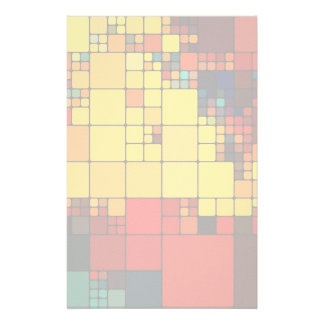 Art abstract vibrant rainbow geometric pattern stationery
