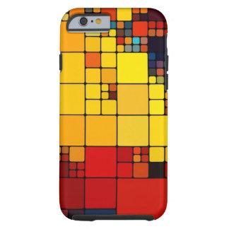 Art abstract vibrant rainbow geometric pattern tough iPhone 6 case