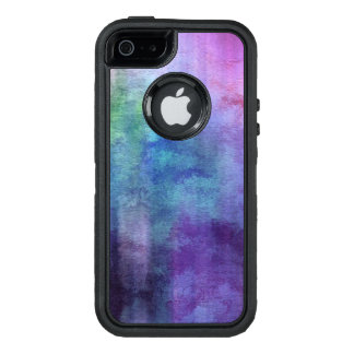 art abstract watercolor background on paper 2 2 OtterBox defender iPhone case