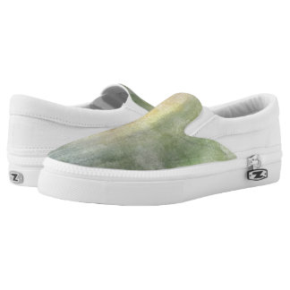 art abstract watercolor background on paper 2 2 Slip-On shoes