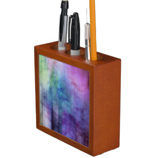 art abstract watercolor background on paper 2 3 desk organiser