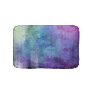 art abstract watercolor background on paper 2 bath mat