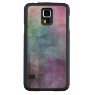 art abstract watercolor background on paper 2 carved maple galaxy s5 case