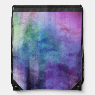 art abstract watercolor background on paper 2 drawstring bag