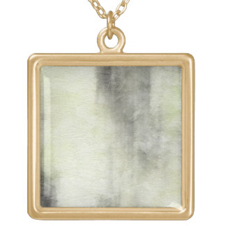 art abstract watercolor background on paper 2 gold plated necklace