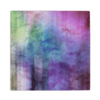 art abstract watercolor background on paper 2 maple wood coaster