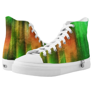 art abstract watercolor background on paper 2 printed shoes