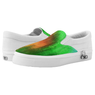 art abstract watercolor background on paper 2 Slip-On shoes