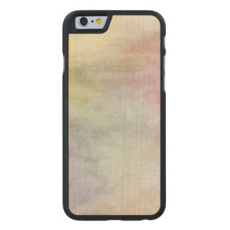 art abstract watercolor background on paper 3 carved maple iPhone 6 case