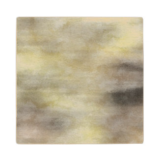art abstract watercolor background on paper 3 maple wood coaster