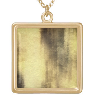 art abstract watercolor background on paper 4 gold plated necklace