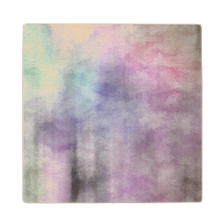 art abstract watercolor background on paper 5 2 maple wood coaster