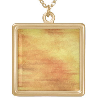 art abstract watercolor background on paper 5 gold plated necklace
