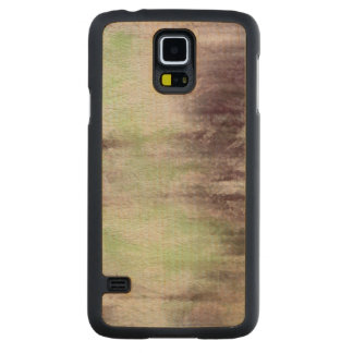 art abstract watercolor background on paper carved maple galaxy s5 case