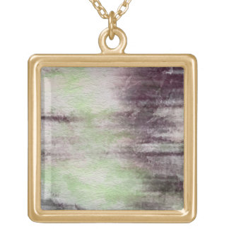 art abstract watercolor background on paper gold plated necklace
