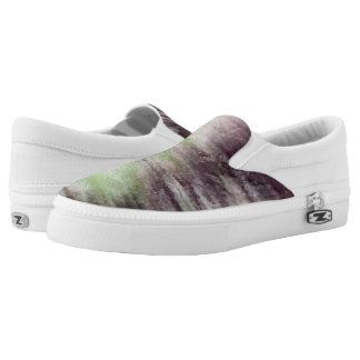 art abstract watercolor background on paper Slip-On shoes