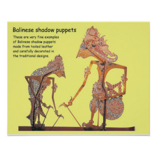 Art and design, Balinese Shadow puppets Poster