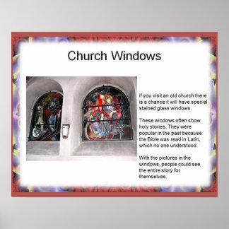 Art and design Public art church windows Poster