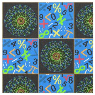 Art and Math Fabric, Blue Fabric