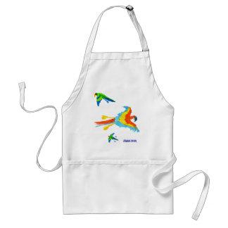 Art Apron: Tropical Parrots Standard Apron