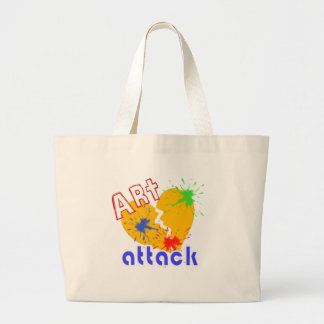 Art Attack Large Tote Bag