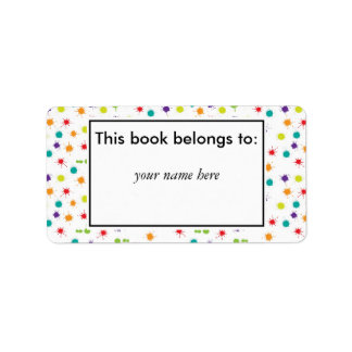 Art Attack Personalised book plates Address Label