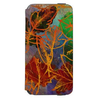 Art Autumn Leaves Background In Rainbow Colors Incipio Watson™ iPhone 6 Wallet Case