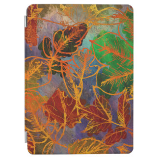 Art Autumn Leaves Background In Rainbow Colors iPad Air Cover