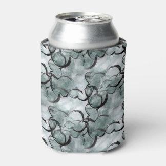 art avant-garde gray, black hand paint can cooler