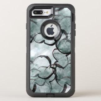 art avant-garde gray, black hand paint OtterBox defender iPhone 8 plus/7 plus case