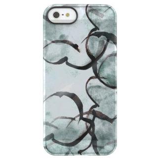 art avant-garde gray, black hand paint permafrost® iPhone SE/5/5s case