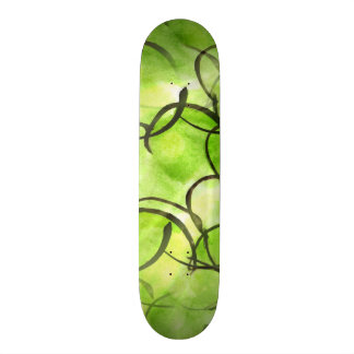 art avant-garde hand paint background green 21.6 cm skateboard deck