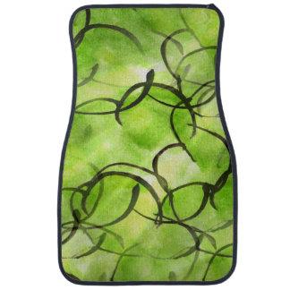 art avant-garde hand paint background green car mat
