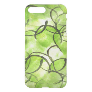 art avant-garde hand paint background green iPhone 8 plus/7 plus case