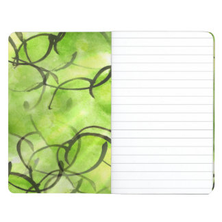 art avant-garde hand paint background green journal