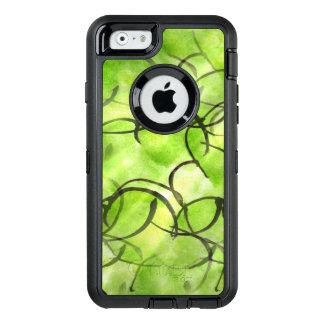 art avant-garde hand paint background green OtterBox defender iPhone case