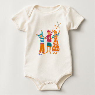 Art Baby: Happy Kids and Seagull Baby Bodysuit