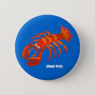 Art Badge Button: Cornish Lobster