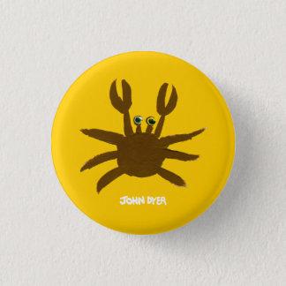 Art Badge Button: John Dyer Crazy Beach Crab