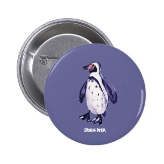 Art Badge Button: John Dyer Purple Penguin