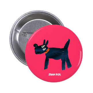 Art Badge Button: John Dyer Scotty Dog, Bella
