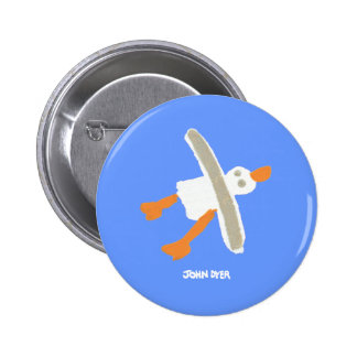 Art Badge Button: John Dyer Seagull
