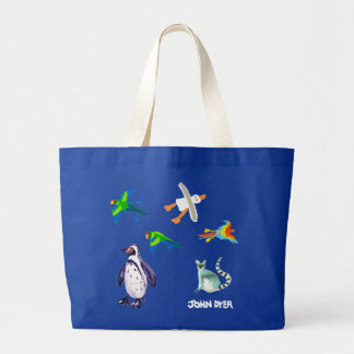 Art Bag: A Day at the Zoo Large Tote Bag